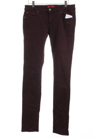 Hugo Boss Skinny Jeans bordeauxrot Casual-Look