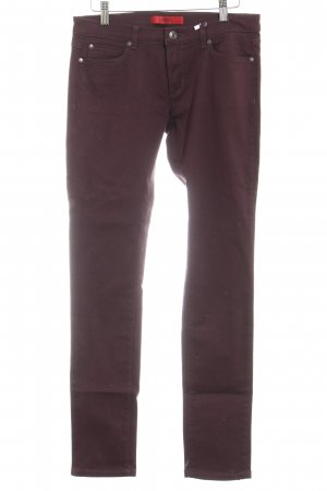 Hugo Boss Skinny Jeans brombeerrot Casual-Look
