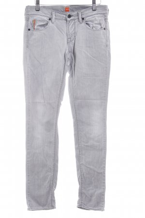 Hugo Boss Skinny Jeans hellgrau Casual-Look