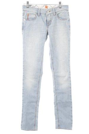 Hugo Boss Skinny Jeans himmelblau-weiß Casual-Look