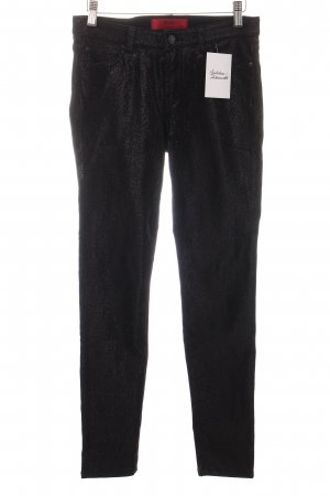Hugo Boss Skinny Jeans schwarz Glitzer-Optik