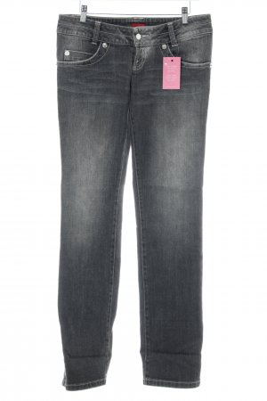 Hugo Boss Slim Jeans grau Used-Optik