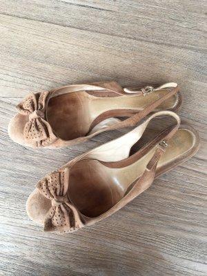 Hugo Boss Slingback Ballerinas sand brown suede