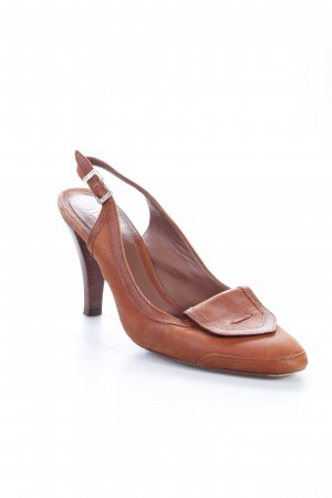 Hugo Boss Slingback-Pumps braun