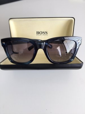 Hugo Boss Occhiale da sole blu scuro Materiale sintetico