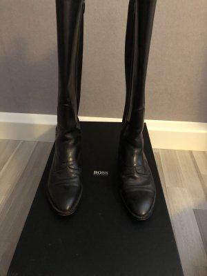 Hugo Boss Stiefel in schwarz, echt Leder