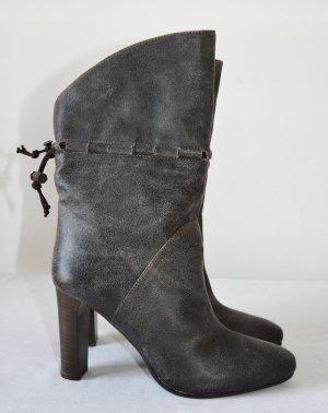 Hugo Boss Booties grey leather