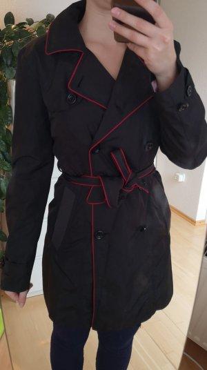 HUGO Hugo Boss Giacca lunga nero-rosso scuro
