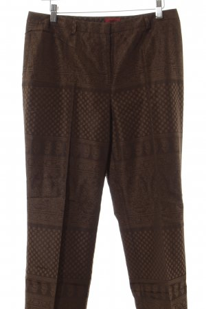 Hugo Boss Stoffhose hellbraun-braun Mustermix Business-Look