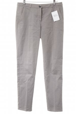 Hugo Boss Stoffhose rosé-taupe abstraktes Muster Business-Look