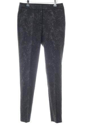 Hugo Boss Stoffhose schwarz florales Muster Elegant