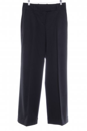 Hugo Boss Stoffhose schwarz Streifenmuster Business-Look