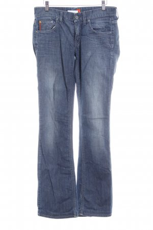 Hugo Boss Straight-Leg Jeans blassblau-dunkelorange Casual-Look