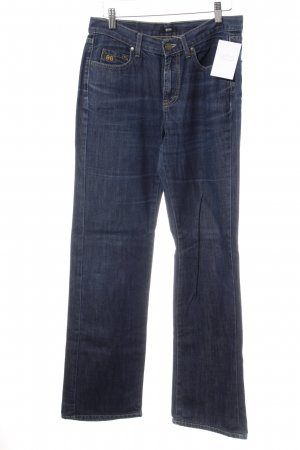 Hugo Boss Straight-Leg Jeans blau-goldfarben Casual-Look
