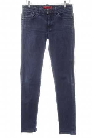 Hugo Boss Straight-Leg Jeans dunkelblau-weiß Washed-Optik