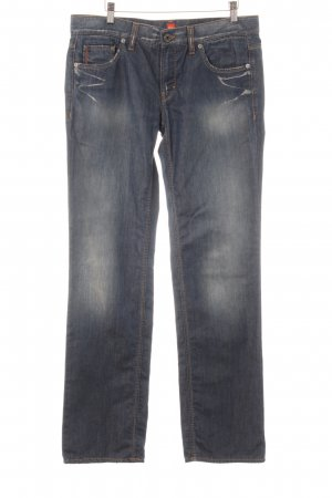 Hugo Boss Jeans a gamba dritta grigio ardesia-blu stile casual