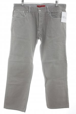 Hugo Boss Straight-Leg Jeans hellgrau Casual-Look
