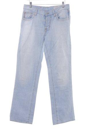 Hugo Boss Straight-Leg Jeans himmelblau Casual-Look