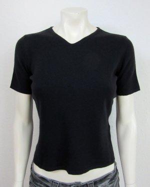 HUGO BOSS Strick Shirt Gr. S schwarz V-Ausschnitt