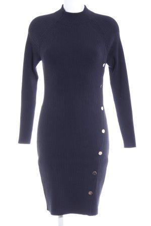 Hugo Boss Strickkleid dunkelblau schlichter Stil