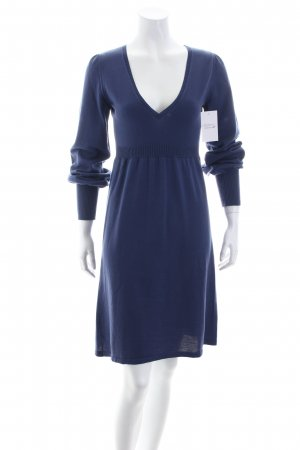 Hugo Boss Strickkleid stahlblau Casual-Look