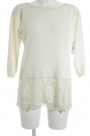 Hugo Boss Strickpullover creme Boho-Look