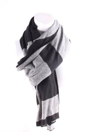 Hugo Boss Gebreide sjaal zwart-grijs casual uitstraling