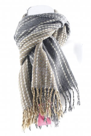 Hugo Boss Knitted Scarf striped pattern fluffy