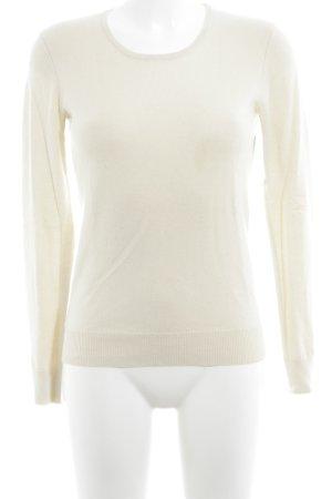 Hugo Boss Strickshirt creme schlichter Stil
