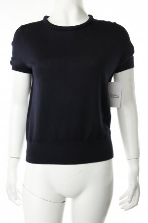 Hugo Boss Strickshirt dunkelblau Business-Look