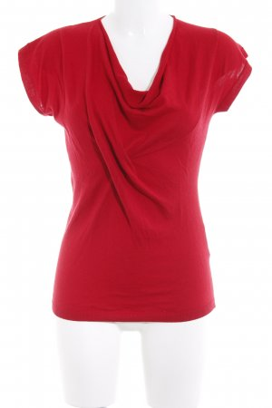 Hugo Boss Camisa tejida rojo oscuro estilo sencillo