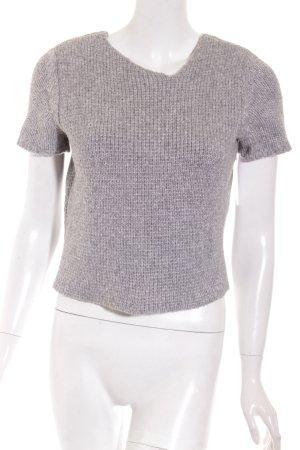 Hugo Boss Strickshirt grau Casual-Look