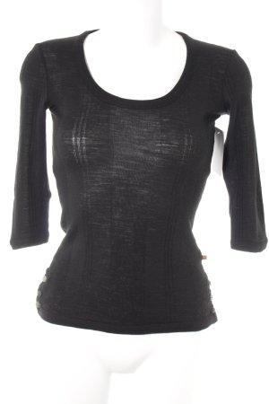 Hugo Boss Camisa tejida negro look casual