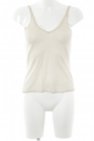 Hugo Boss Knitted Top cream Lace trimming