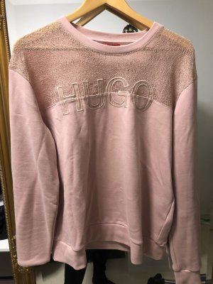 Hugo Boss Sweatshirt rose clair coton
