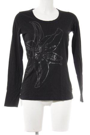 Hugo Boss Suéter negro-gris antracita estampado abstracto look casual