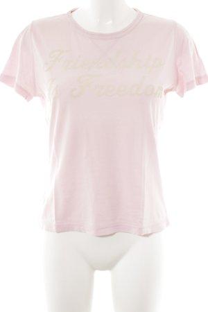 Hugo Boss T-Shirt altrosa-hellgelb Schriftzug gedruckt sportlicher Stil