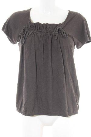 Hugo Boss T-Shirt dunkelbraun Casual-Look