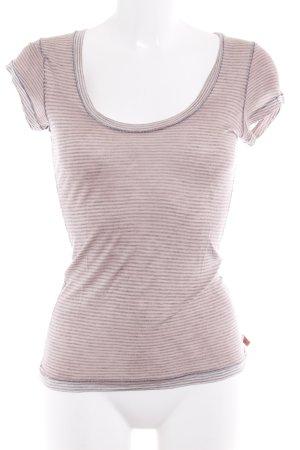 Hugo Boss T-Shirt grau-roségoldfarben Motivdruck Casual-Look
