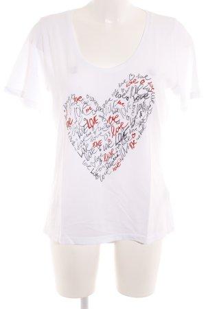 Hugo Boss T-Shirt Schriftzug gedruckt Romantik-Look