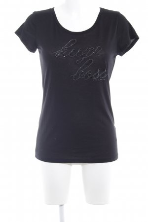 Hugo Boss T-Shirt schwarz-silberfarben Casual-Look