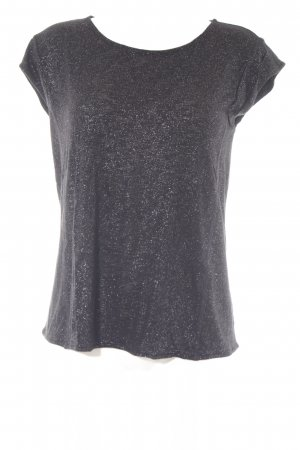 Hugo Boss Camiseta negro-color plata estampado a lunares look casual