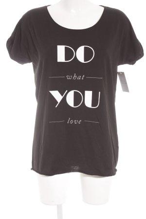 Hugo Boss T-Shirt schwarz-weiß Casual-Look