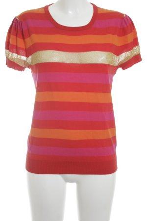 Hugo Boss T-Shirt Streifenmuster Glitzer-Optik