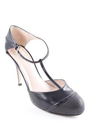 Hugo Boss Zapatos de tacón con barra en T negro elegante