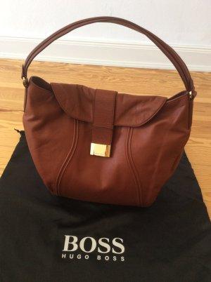 Hugo Boss Tasche # Shopper # cognac braun # ungetragen