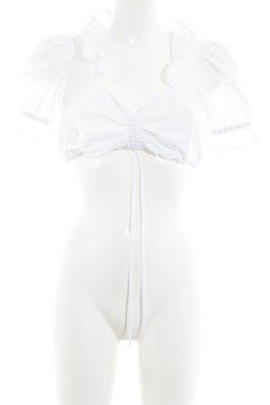 Hugo Boss Folkloristische blouse wit Geweldige look