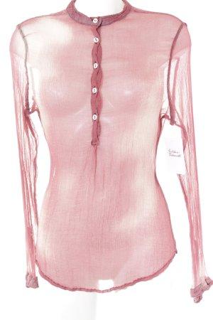 Hugo Boss Transparenz-Bluse creme-hellrot Farbverlauf schlichter Stil