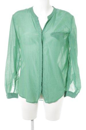 Hugo Boss Transparenz-Bluse grün Casual-Look