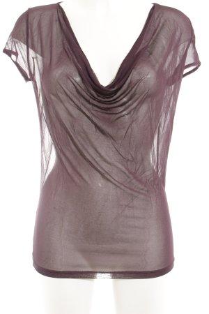 Hugo Boss Transparenz-Bluse purpur Casual-Look